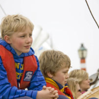 Children can also join during the individual sailing trips